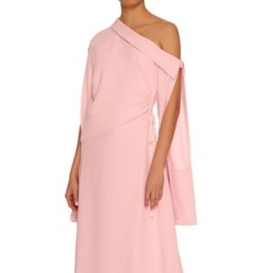 Hellessy Mirage One Shoulder gown Pink Size 6
